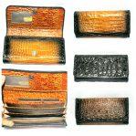dompet kipas kulit buaya papua